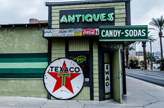 Antiques (earthlingrick) Tags: city candy unitedstates lasvegas nevada antiques texaco sodas nikond7000