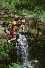 Adventure Day! (airinnajera) Tags: nature water landscape hawaii waterfall jumping rocks maui adventure explore jungle tropical