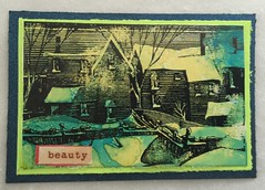 ATC Winter Image (campbelj45ca) Tags: house atc artisttradingcard rubberstamping winterscene alcoholinks