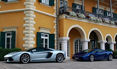 Blue Crew (D.N. Photography) Tags: auto travel blue cars car canon outside outdoors eos hotel austria sterreich am automobile outdoor automotive vehicles exotic transportation vehicle lamborghini 77 supercar automobiles gallardo exotics supercars roadster velden falkensteiner wrthersee worldcars aventador sportwagenwoche