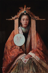 Tang Wei Min  Quiet Time, 2008. Painting: Oil on canvas. Via Art of Darkness: Daily Art Blog (ArtAppreciated) Tags: china art history girl beauty fashion female portraits painting asian clothing women quiet time contemporary traditional fineart chinese womens blogs portraiture faves wei min anthropology figurative tang realism 2000s imagined artblogs tumblr artoftheday artofdarkness artappreciated artofdarknessco artofdarknessblog