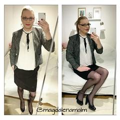 a very nice monday (magdalena_m) Tags: stockings glasses makeup skirt swedish pearls blouse transgender nails jacket tranny blonde transvestite heels trans mtf maletofemale transgirl