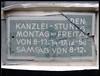 KANZLEI-STUNDEN . CHANCELLERY-HOURS (LitterART) Tags: broken letters schrift deutsch tafel kanzlei