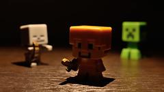 37/365: The night in Minecraft / A noite em Minecraft (yago_ma) Tags: skeleton toy miniature brinquedo interior object small indoor spotlight creeper miniatura objeto pequeno bonecos smallobject directlight luzdireta goldenarmor minecraft pequenoobjeto
