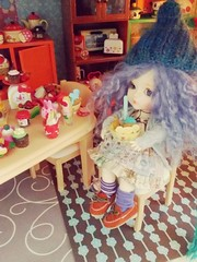 Breakfast time (Iside*^_^*) Tags: yellow outfit miel rement dollhouse atelier lati momoni