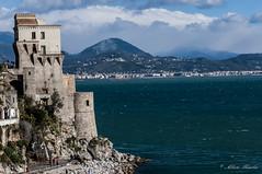 Norman tower (Albymus) Tags: travel sea sky seascape tourism water clouds coast rocks campania gulf amalfi salerno costiera ital cetara