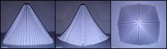 Pyramid Of Paper With V-pleats Symmetrical / Parallel Pleating (NeoSpica / NeoLiveArt) Tags: roof light sculpture make paper origami pyramid handmade decorative structure homemade fold decor making base corrugation folding waterbomb accordionfold papershelter parametricfolds vpleats