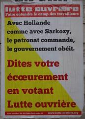Dites votre curement (emmanuelsaussieraffiches) Tags: poster political politique affiche lutteouvrire
