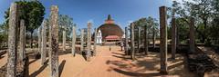 Abhayagiri vihra Dagoba Panorama (::darren::) Tags: panorama stupa buddhism monastery srilanka anuradhapura dagoba mahayana theravada abhayagiri vihra