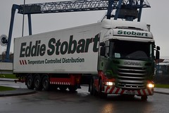 Stobart H2434 PO65 UWK Anna Zoe at Widnes 6/2/16 (CraigPatrick24) Tags: road truck fridge cab transport lorry delivery vehicle trailer scania logistics widnes stobart eddiestobart annazoe stobartgroup scaniar450 h2434 stobartfridge po65uwk