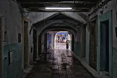 Essaouira (enzo marcantonio) Tags: africa street leica travel windows woman color green rain doors market arcade marocco souk medina streetphoto q summilux essaouira suk peole marcantonio