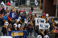 IMG_5855 (United Steelworkers - Metallos) Tags: canada labor flags demonstration solidarity labour unions usw unitedsteelworkers canlab standupforsteel hamontrally