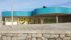 Porto Graffity / Streetart 7 (rocknrolltheke) Tags: blue urban streetart green portugal colors yellow graffiti colorful colours graffity gelb porto colourful grn blau oporto bunt farben 25365 nevogilde