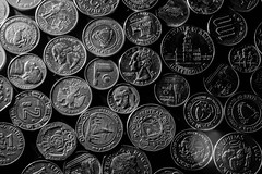 _MG_7172 (Casher_) Tags: bw money silver coins change currency