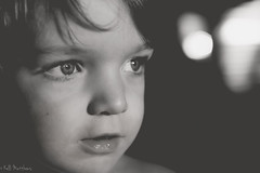 Toddler Life (kellimatthews) Tags: blackandwhite blackbackground eyes toddler child bokeh silverlight