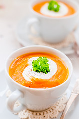 Cream Carrot Soup in a Cup (dolphy_tv) Tags: autumn food orange white fall cup kitchen yellow dinner pumpkin table lunch pepper cuisine soup ginger leaf mashed colorful dish starter seasonal harvest cream tasty spoon vegetable delicious potato meal squash vegetarian carrot mug brunch yoghurt appetizer portion diet yogurt parsley thick butternut puree creamy sourcream vegetablesoup carrotsoup potatosoup creamsoup
