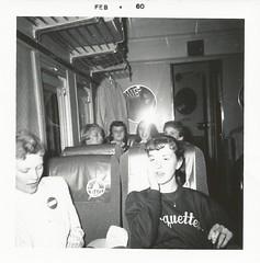Riding the B&O, February 1960 (STUDIOZ7) Tags: railroad girls ohio train women 60s fifties cigarette snapshot baltimore smoking teen 1950s teenager 50s 1960s smoker sixties teenage marquettes