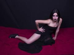 Self Portrait Serie (fabiolacancino) Tags: red portrait black fashion contrast self dark