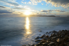 BLUE (Kleanthis Mpantis) Tags: longexposure sea sky sun clouds greece pireas nd1000