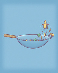 All wok and no play (randyotter) Tags: cute art kids illustration design funny flickr jay sweet awesome aaron colourful whimsical randyotter