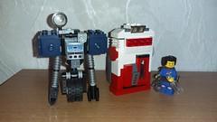 Nuka Cola Machine and Securitron (Brickule) Tags: robot lego cola scifi fallout apoc nuka robco