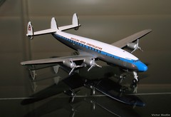 Herpa 1/500th scale Lockheed L-1049 (Victor Medlin) Tags: aircraft lockheed constellation diecast breitling modelairplane l1049 classicairliner