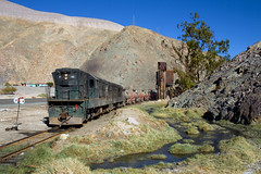 An oasis in the desert. Heavy metals included. (david_gubler) Tags: chile train railway llanta potrerillos ferronor