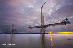 Queensferry Crossing (Iain McGregor) Tags: new bridge light sunset sea sky cloud water river coast scotland edinburgh forth queensferrycrossing