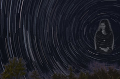 StarsLookDown2 (arckphoto) Tags: sky night stars model moody startrails cronin starslookdown