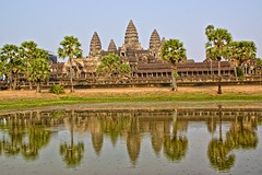 Angkor Wat in late afternoon light near Siem Reap in Cambodia