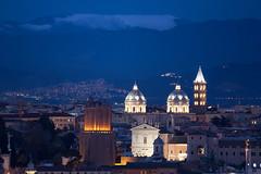 Rome by night (luigig75) Tags: winter italy snow mountains rome roma skyline night canon tivoli italia cityscape lazio santamariamaggiore 450d tamronsp70300mmf456divcusd
