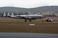 """Connie"" Lockheed Constellation, Canberra, Australia (JungleJack 22) Tags: trip plane airplane fly flying inflight airport day open aircraft wing jet gear australia terminal aeroplane aerial landing journey land canberra passenger connie lockheed qantas airborne touchdown takeoff rapid aereo act airliner constellation aero avion hars  australiancapitalterritory flown albionpark yscb"