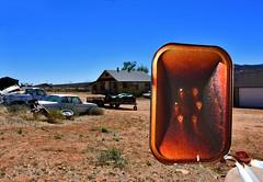 Hackberry, Arizona (Kevin.Donegan) Tags: arizona usa cars yard america mirror route66 rust scrapyard wingmirror hackberry