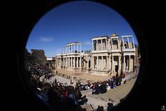 Mrida (Jose Lucker) Tags: old city people roma rock photoshop canon teatro culture lot fisheye romano merida anfiteatro piedra cs6 objetive canon40d emeritaagusta