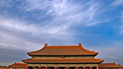 The Forbidden City in Beijing, China (Johnnie Shene Photography(Thanks, 1Million+ Views)) Tags: china old city trip travel people colour building tourism horizontal skyline architecture canon lens asian photography eos rebel ancient focus kiss asia exterior angle image zoom outdoor no sightseeing wide chinese beijing royal style landmark artificial palace front structure forbidden journey imperial manmade destination oriental tamron cloudscape built attraction freshness foreground t3i x5  18200mm fragility diii 600d   f3563