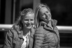 Girls just wanna have fun (nagajohn) Tags: people blackandwhite streets holland netherlands monochrome amsterdam photography nikon fotografie outdoor candid nederland streetphotography streetlife streetscene moment mokum beautifulpeople onthestreet amsterdammers straten straatfotografie opstraat mooiemensen straatfotograaf d5200 nagajohn johnkwee