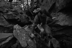 Hans (anisacphotography) Tags: park boy portrait blackandwhite bw male monochrome trekking outdoors adult state hiking monochromatic bouldering youngadult rickettsglen
