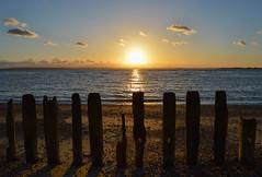 Sun Sticks (NVOXVII) Tags: wood sunset sky beach beauty clouds landscape coast nikon outdoor dusk horizon shoreline archive 1855mm seafront lightandshadow ditc d3200
