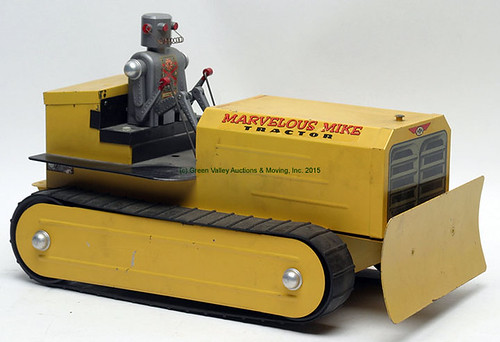 "Vintage Saunders ""Marvelous Mike"" Toy Bulldozer - $176.00 (Sold March 20, 2015)"