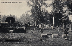SW Marshall MI c.1910 UNUSUAL Calhoun County Cemetery View in Marshall Oakridge Cemetery Family Plots and Memorials in beatifully landscaped setting Photographer M.A. MANNING (UpNorth Memories - Donald (Don) Harrison) Tags: travel usa heritage history tourism st vintage antique michigan postcard memories restaurants hotels trailer roadside upnorth steamship cafes excursion attractions motels mackinac cottages cabins campgrounds city bridge island car upnorthmemories rppc wonders big railroad michigan memories mac state parks entertainment natural harrison roadside ferry travel don tourist mackinaw stops upnorth straits ignace