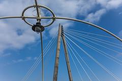 Pier meets bridge (tabulator_1) Tags: sky lines shapes southportpier marinewaybridge