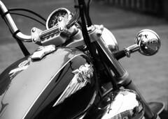 Virago (Phil Burns) Tags: blackandwhite bw bike olympus motorbike virago omd em1
