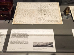Ada Lovelace to Lady Byron (Daniele Nicolucci photography) Tags: uk greatbritain railroad england london museum handwriting ada unitedkingdom railway science gb letter sciencemuseum southkensington 2016 lovelace adalovelace
