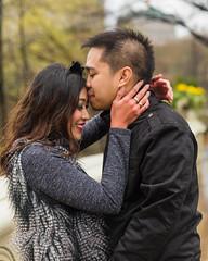Kiss in the Rain (Havoc315) Tags: nyc rain engagement kiss couple centralpark bowbridge nikond750