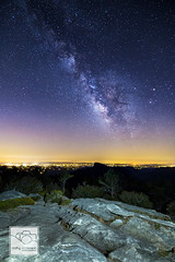 Milky Way over Morganton (cathyandersonphoto) Tags: city nightphotography mountains lights nc astrophotography linvillegorge tablerock milkyway morganton ncmountains morgantonnc hawksbillmountain