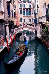 Venice (chyky9) Tags: bridge venice italy reflections river nikon holidays gondola gondolier nikond3200 nikonistas