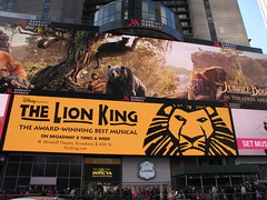 Times Square NYC 2016 Lion King Jungle Book (wheeltoyz) Tags: new york city nyc bus square king taxi broadway lion hersheys times