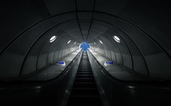 Quantum tunnelling (Mark II) (Panda1339) Tags: uk london architecture escalator tubestation londonunderground futuristic