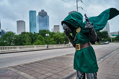Call me Doom ! (takhawaja) Tags: city sky art night clouds exposure downtown heaven shoot cosplay sony picture houston adventure explore capture marvel hdr drdoom carlzeiss a7ii primeshot sonyalpha hashtag variotessartfe41635 a7rii
