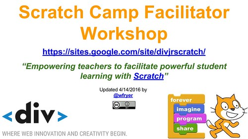 Scratch Camp Facilitator Workshop- April by Wesley Fryer, on Flickr